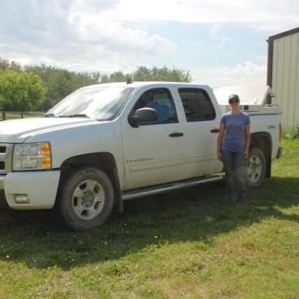 Sarah at Truck