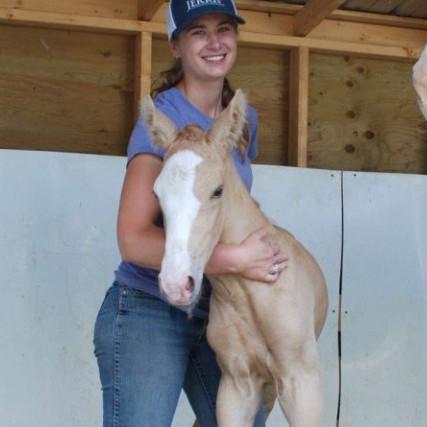 Sarah with Foal